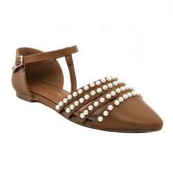 CRISTIAN LAY ZAPATO PEARLS MARRÓN